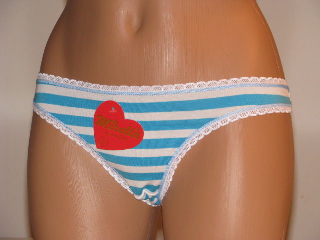 Aqua Blue Striped Panty
